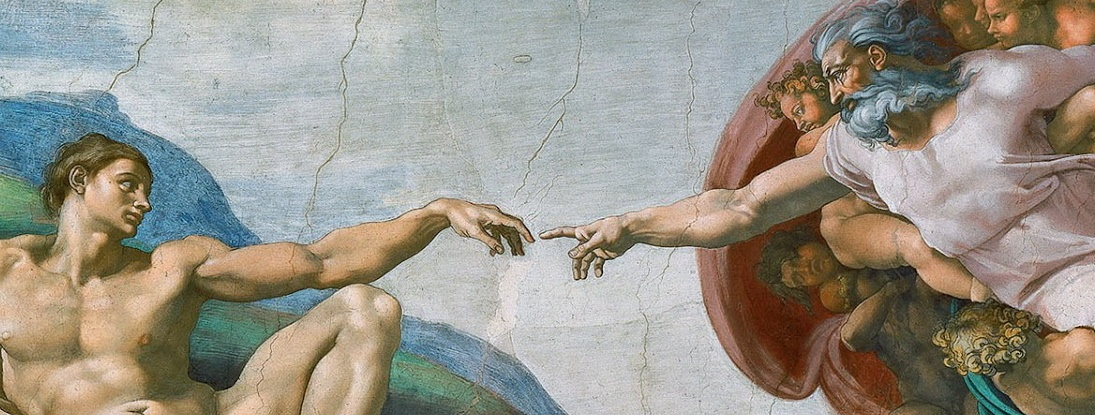 Italy Rome Vatican Sistine Chapel Creation of Adam via WikiMedia
